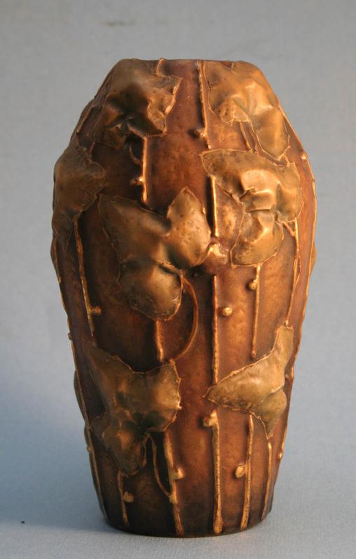 Amphora Pottery Art Nouveau Vase by Paul Daschel