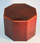 Antique American Federal Octagonal Tea Caddy