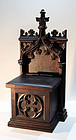 Antique English Carved Oak Alms Box