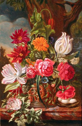 Antique Dutch Floral Still Life