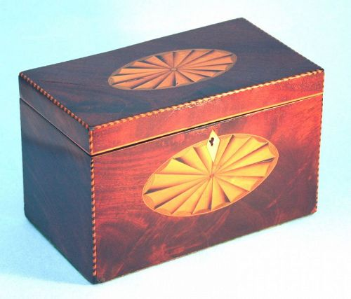 English Inlaid Sheraton Tea Caddy