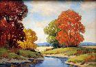 Small Virginia Landscape by Ernst Fredericks (American b.1877)