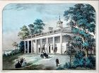An Original Currier and Ives Print of Mount Vernon