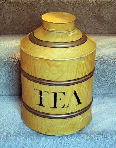 Antique Amerinan  Faux Painted Tea Canister
