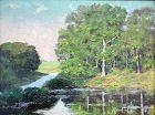 River Landscape by J. Stewart Barney (Am. b.1869)