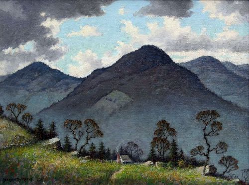 North Carolina Landscape by Benson Bond Moore (Am.,  1882-1974)