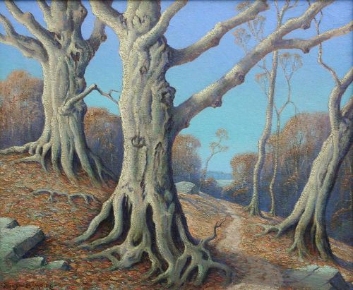 Cyprus Trees by Benson Bond Moore (American 1882-1974)