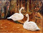 Swans by Benson Bond Moore (American 1882-1974)