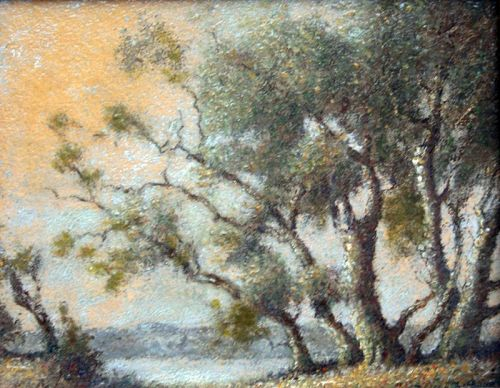 Potomac River Landscape by Benson Bond Moore (Am.,  1882-1974)
