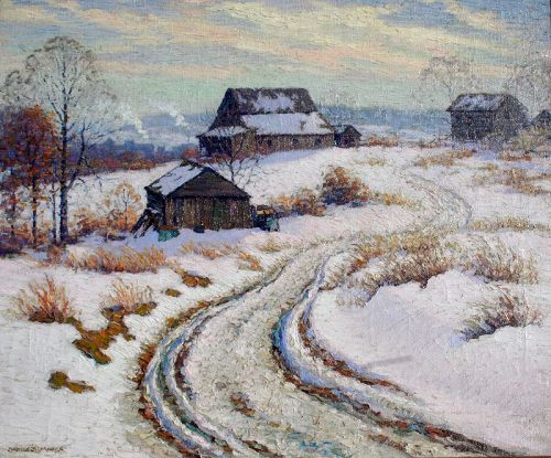 Farm in Winter by Benson Bond Moore (American 1882-1974)