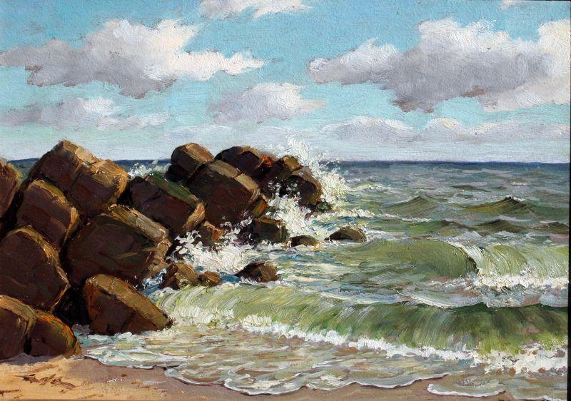 Florida Beach Scene by Benson Bond Moore (American 1882-1974)