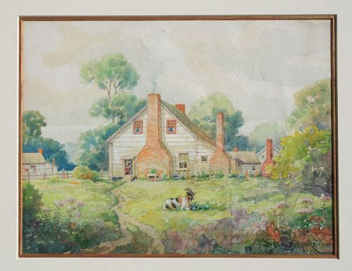 Old Maryland House by Benson Bond Moore (American 1882-1974)