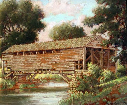 Pennsylvania Covered Bridge by Benson Bond Moore (American 1882-1974)