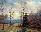 """""""March Sunset""""  by Benson Bond Moore (American 1882-1974)"""