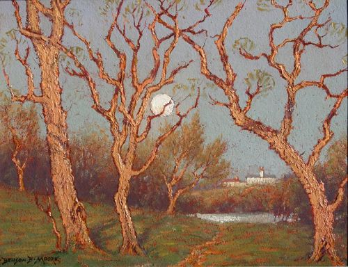 Washington D.C. Landscape by Benson Bond Moore (American 1882-1974)
