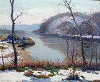 Potomac River Landscape by Benson Bond Moore (American 1882-1974)