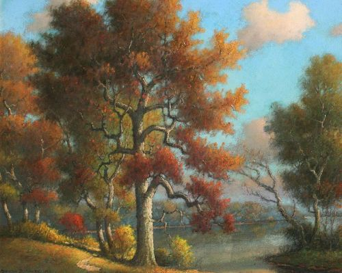 View of  Potomac near Mt. Vernon by Benson Moore (American b.1882)