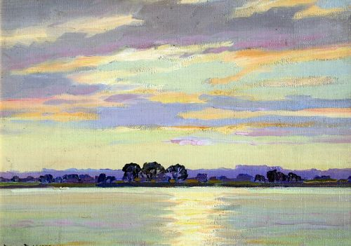 View of the Potomac River by Benson Bond Moore (American 1882-1974)