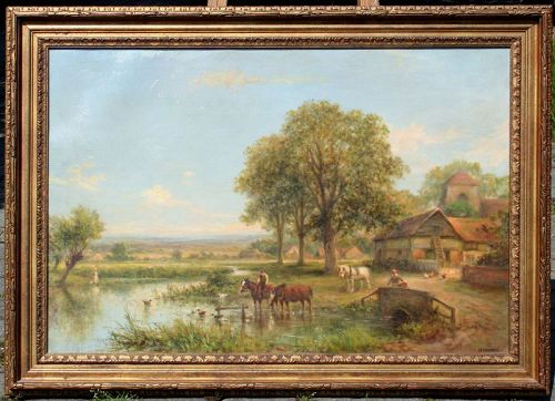 Farm Landscape by Henry Maidment (British, fl. 1889-1914)