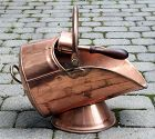 Antique English Copper Coal Scuttle