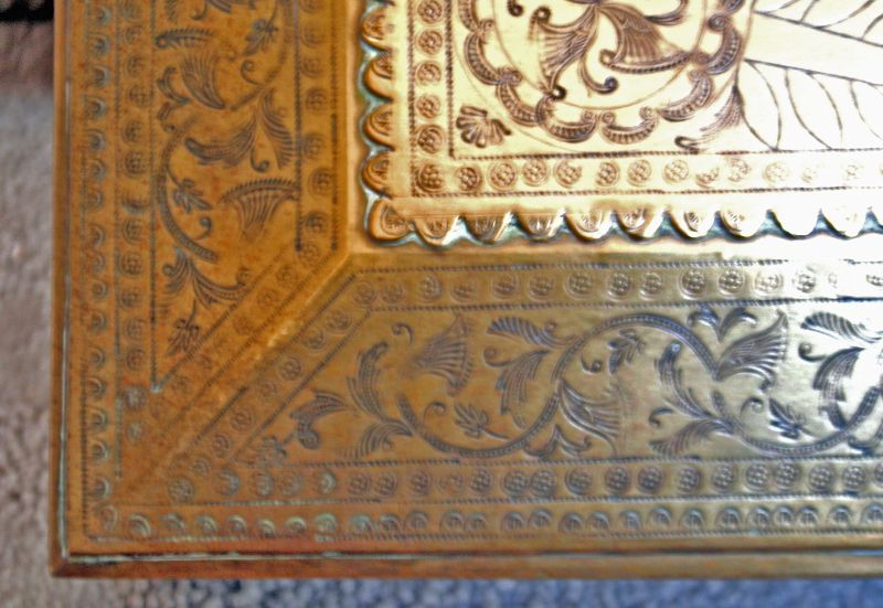 Anglo-Indian Brass Document Box