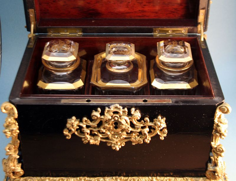 Exceptional Napoleon III Tea Chest with Ormolu Mounts
