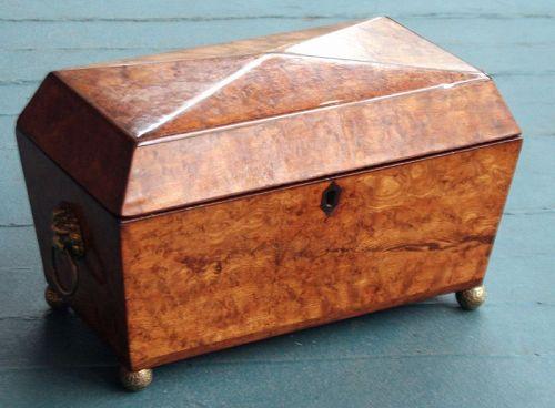 Antique Bird's-Eye Maple Tea Caddy