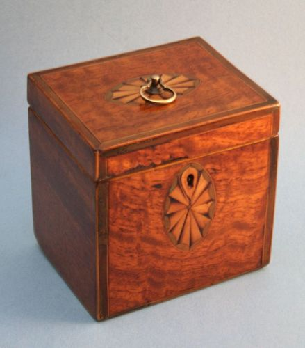 Fine 18th Century Inlaid Tea Caddy