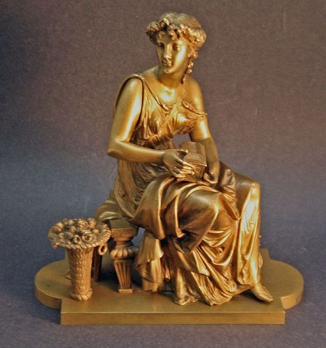 Bronze Sculpture of Pandora by Léon Pilet  (French 1840-1916 )