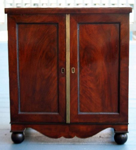 English Regency Collectors Cabinet