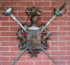Carved Wood Shield-form Crest