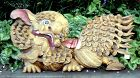 Large Antique Chinese Carved and Gilt Foo Dog