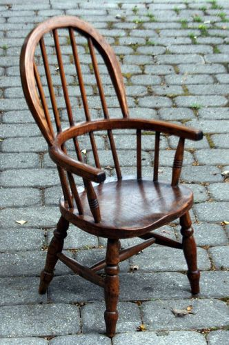 Classic English Child's Windsor Armchair