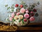 STILL LIFE OF ROSES by MATHILDE MEHIER, 1895