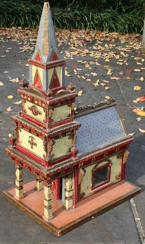 Large Folk Art Model of a Church