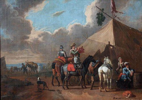 Pieter van Bloemen : Military Encampment
