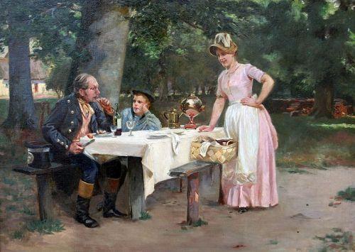 The Captain's Tales by Frants Henningsen  (Danish,  1850-1908)