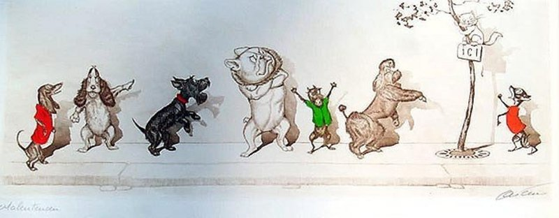 "Boris O'Klein's ""Naughty Dog"" Print"