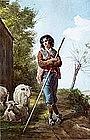 Shepherd Boy by R. Maghelli (Italian, 19th century)