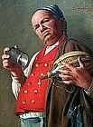 Genre Scene by Giovanni Sandrucci (Ital,1828-1897)