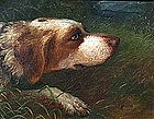 Portrait of a Dog by Ernest Sherman Pease (Am. b. 1846)