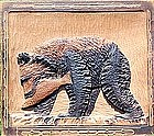 Folk Art Carving of a Bear