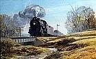 Railroad Train by Frank Vietor (Am. born 1919)