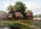 Landscape by Milton H. Lowell (Am., 1848-1927)