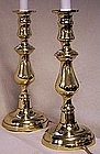 Antique Brass Candlesticks Now Wired as Lamps