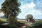 Haying Scene by Fritz Halberg-Krauss (Ger., b.1874)