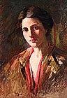 Portrait by E. Christine Marie Voss Lumsdon, Am. b.1870