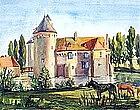 Chateau d�Ohlain by Celine Marie Tabary (Fr. b.1908)