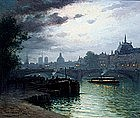 Paris by Moonlite by Louis �tienne Timmermans (Fr.)