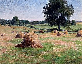 Impressionist Summer Landscape by Ethel M. Stilson